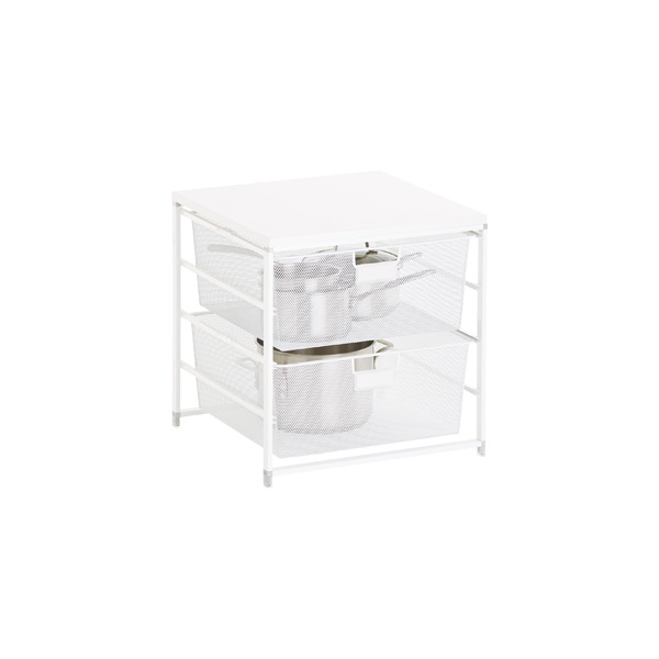 White Cabinet-Sized elfa 2-Drawer Solution