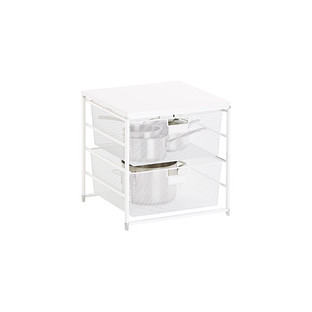 White Cabinet-Sized Elfa 2-Drawer Solution