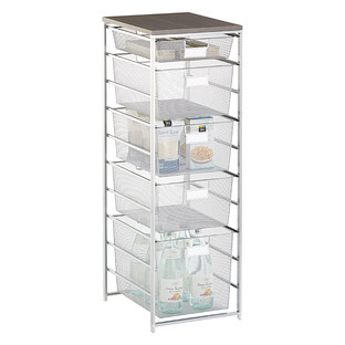mesh shelving systems platinum cabinet sized elfa mesh pantry storage the container store 9057