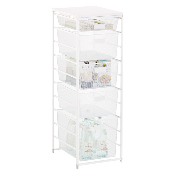 Elfa White Cabinet-Sized Mesh Pantry Storage
