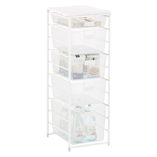 White Cabinet Sized Elfa Mesh Pantry Storage