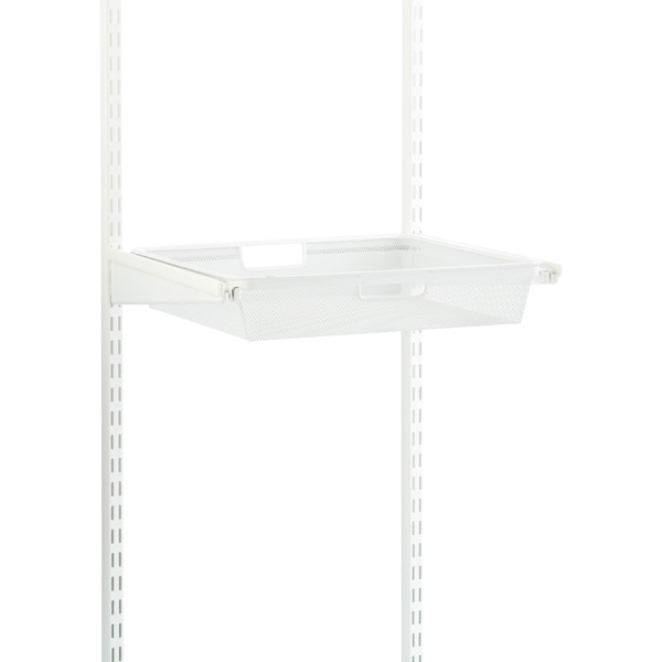 White Elfa Classic 18 Quot Mesh Hanging Drawers Amp Frame The