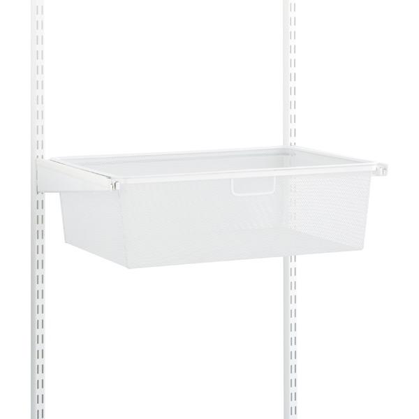 White Elfa classic 2' Mesh Hanging Drawers & Frame