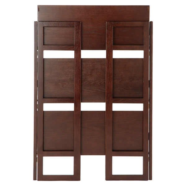Folding Bookshelf - Java Solid Wood Stackable Folding Bookshelf | The Container Store