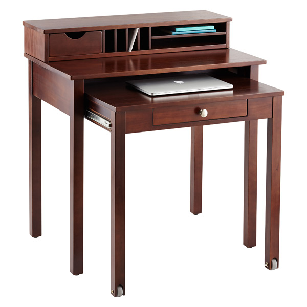 Java Solid Wood Roll Out Desk
