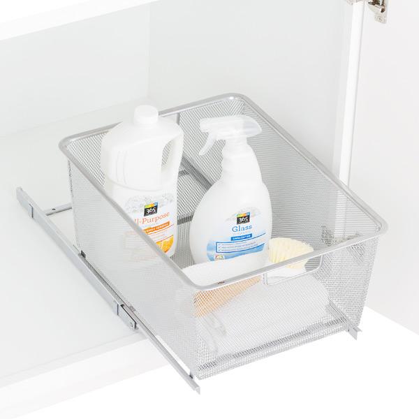 Platinum Cabinet-Sized elfa Mesh Easy Gliders