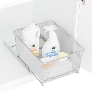 Platinum Cabinet-Sized Elfa Mesh Pull-Out Drawers