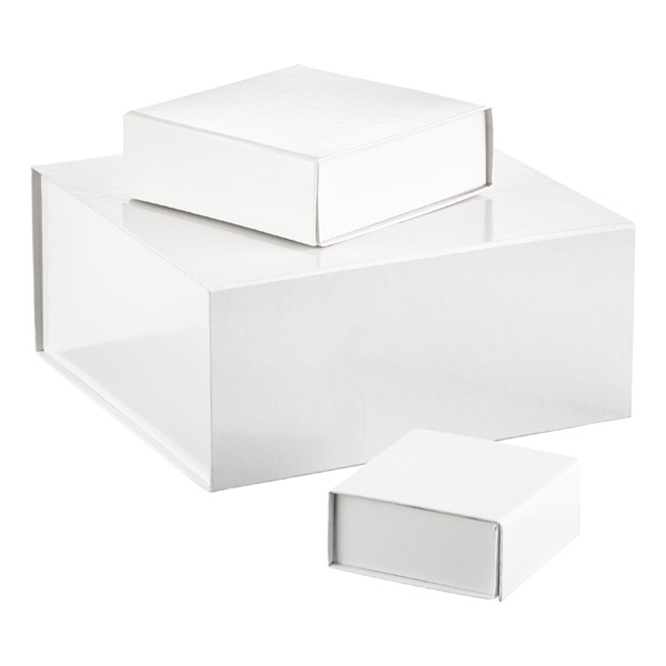 Glossy white collapsible gift boxes the container store glossy white collapsible gift boxes negle Image collections