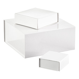 Glossy White Collapsible Gift Boxes
