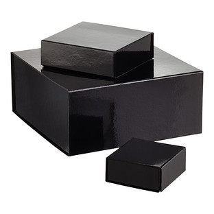 Glossy Black Collapsible Gift Boxes The Container Store