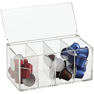 Merveilleux Acrylic Divided Coffee Pod Box