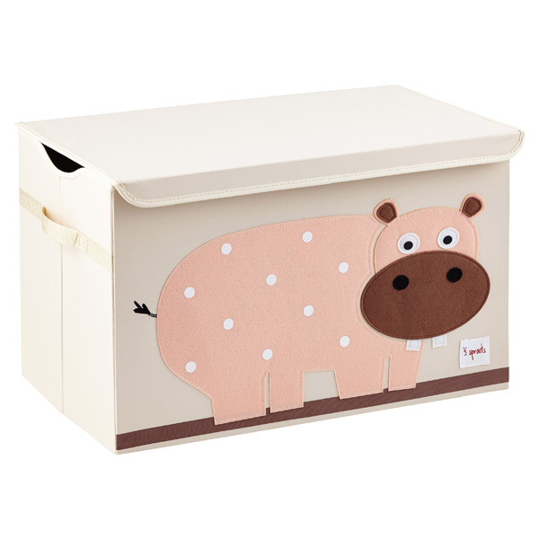 3 Sprouts Hippo Toy Storage Box with Handles