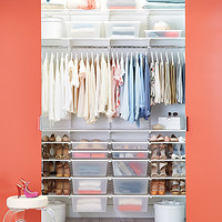 White elfa Chic Reach-In Closet