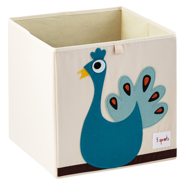 3 Sprouts Peacock Storage Cube
