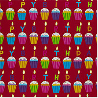 Birthday Cupcakes Gift Wrap