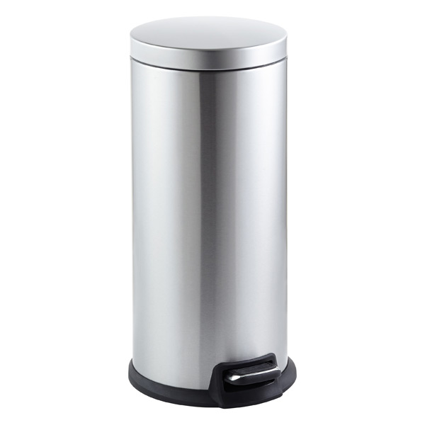 Stainless Steel 8 gal. Round Step Trash Can