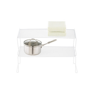 Long White Mesh Stackable Shelf