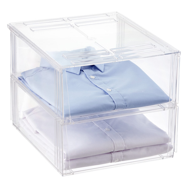 Premium Stackable Shirt Amp Sweater Bins The Container Store