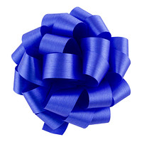 Royal Blue Satin Bow