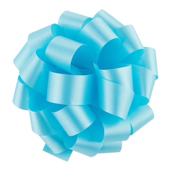 Caribbean Blue Satin Bow