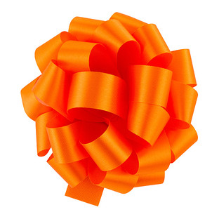 Orange Satin Bow