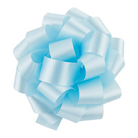 Sky Blue Satin Bow