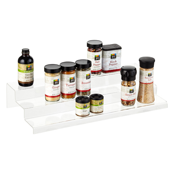 tiered spice racks for kitchen cabinets 3 tier acrylic cabinet amp spice organizer the container 9463
