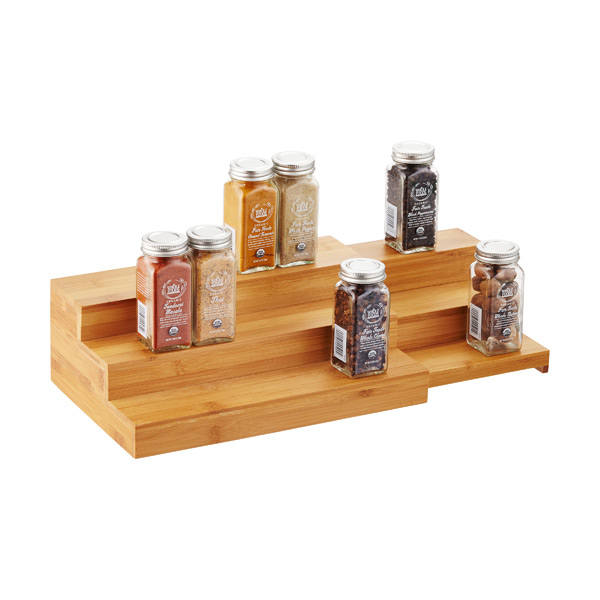3-Tier Bamboo Expanding Spice Shelf