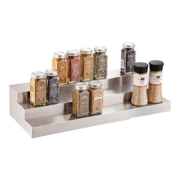 3-Tier Stainless Steel Expanding Spice Shelf