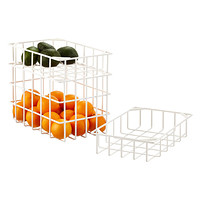 Yamazaki White Tower Steel Wire Stackable Baskets