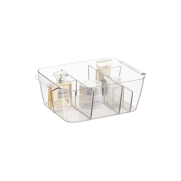 iDesign Linus Small Divided Makeup Bin