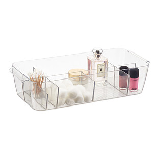 iDesign Linus Large Divided Makeup Bin