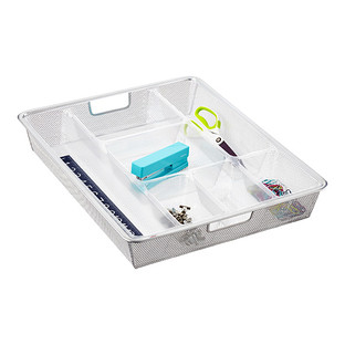 Clear Divided elfa Drawer Trays