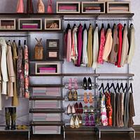 Walnut & Platinum elfa Freestanding Closet