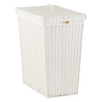 White Montauk Rectangular Hamper