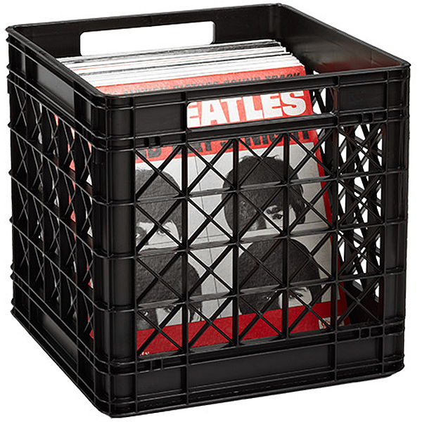 Vinyl Record Storage Crate The Container Store