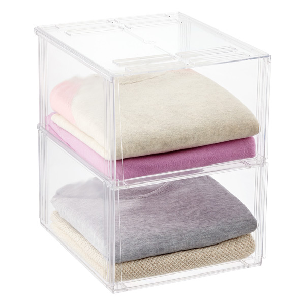 3a1e11b9131b Premium Stackable Shirt & Sweater Bins   The Container Store