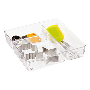 iDesign Linus 3-Section Drawer Organizer