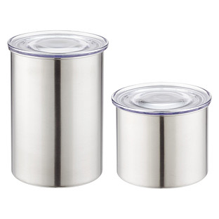 Stainless Steel Airscape Canisters The Container Store
