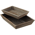 Feathergrain Wood Tapered Trays