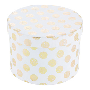 Vivid Wrap White & Gold Recycled Box