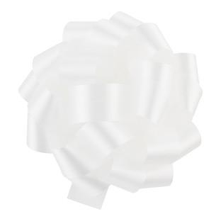 White Satin Bow
