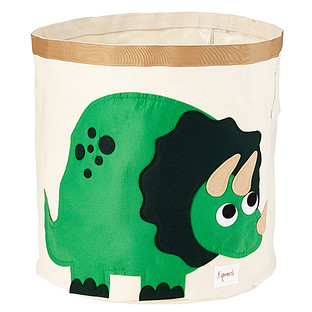 3 Sprouts Dinosaur Canvas Toy Storage Bin