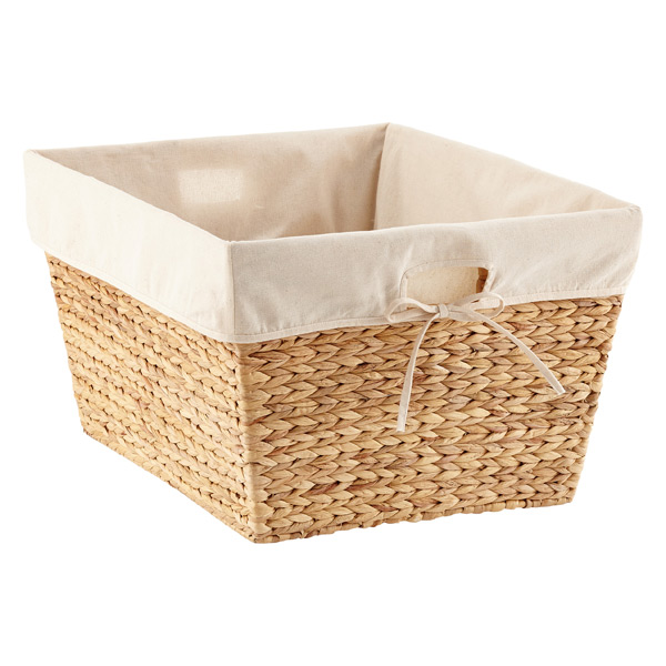 Rectangular Water Hyacinth Tapered Basket