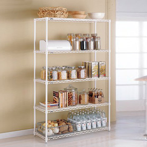 Metal Kitchen Shelves   InterMetro Kitchen Shelves | The Container Store