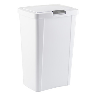 sterilite white touch top trash cans. Interior Design Ideas. Home Design Ideas
