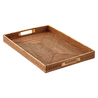 Copper Rattan Tray