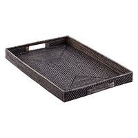 Blackwash Rattan Tray