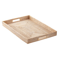Whitewash Rattan Tray