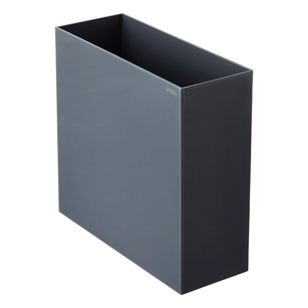 dark grey poppin hanging file box the container store. Black Bedroom Furniture Sets. Home Design Ideas